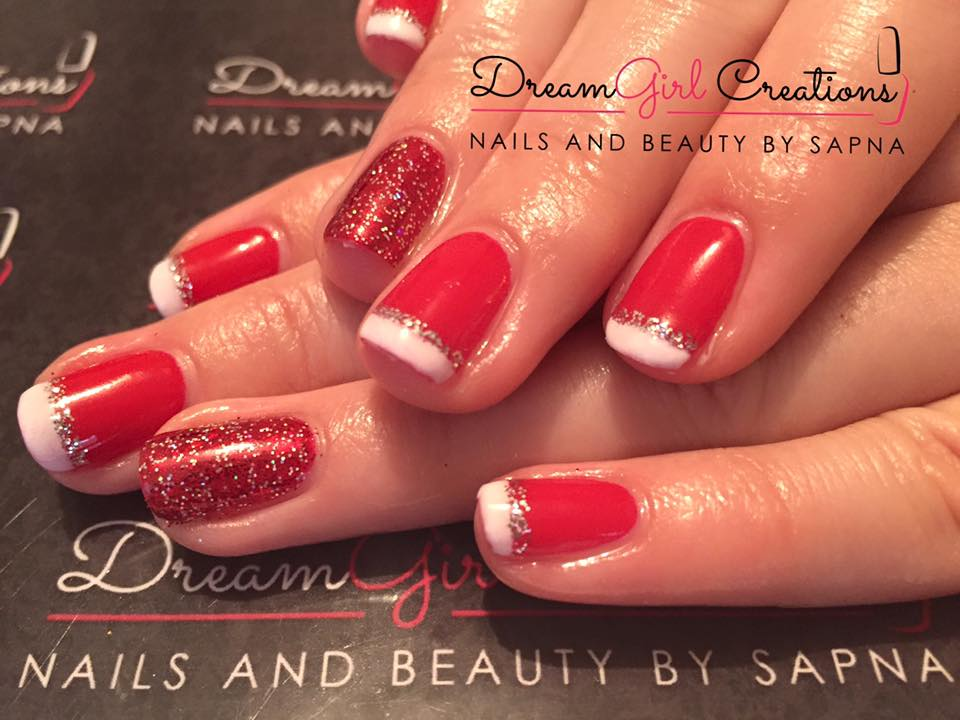 CND Shellac Wildfire Christmas Nails